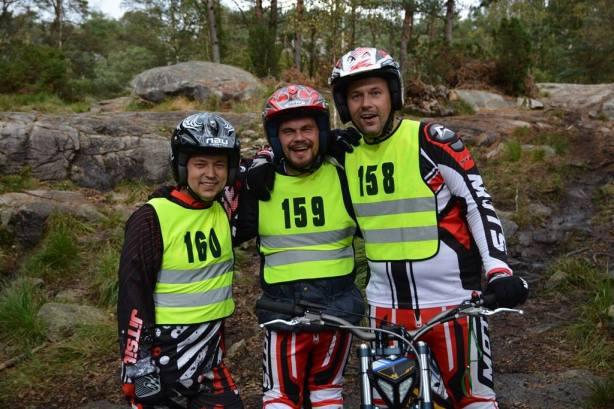Fra Venstre: Tor Kristian Pedersen, Chriss M Nilsen og Jon Kevin Nilsen. Foto: Sara Hemmer/Trialavisa)